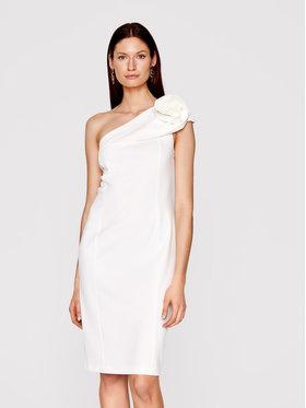Babylon Babylon Sukienka koktajlowa N_MF5012 Biały Slim Fit