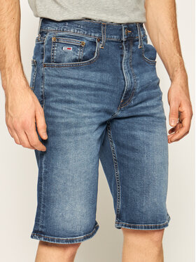 Tommy Jeans Tommy Jeans Jeansshorts Rey DM0DM08039 Dunkelblau Relaxed Fit