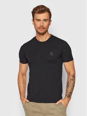 Trussardi Trussardi T-Shirt 52T00535 Černá Slim Fit