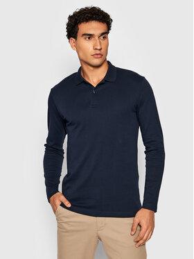 Selected Homme Selected Homme Тениска с яка и копчета Paris 16075938 Тъмносин Regular Fit
