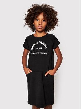 KARL LAGERFELD KARL LAGERFELD Každodenné šaty Z12171 S Čierna Regular Fit