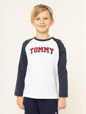 Tommy Hilfiger Tommy Hilfiger Bluzka Applique KB0KB05128 D Biały Regular Fit