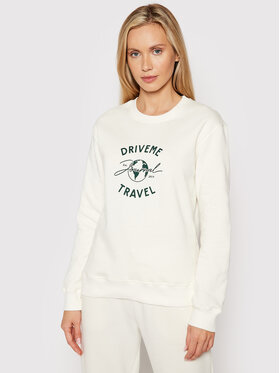 Drivemebikini Drivemebikini Majica dugih rukava Travel Classic 2021-DRV-082 Bijela Classic Fit