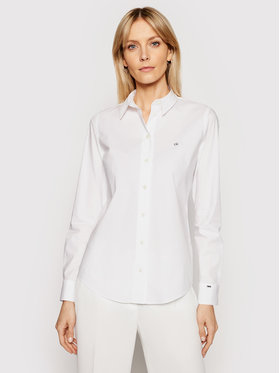 Calvin Klein Calvin Klein Marškiniai K20K202020 Balta Slim Fit
