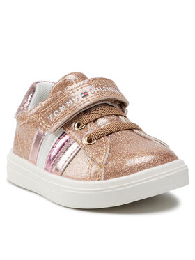 Tommy Hilfiger Tommy Hilfiger Sneakersy Low Cut Lace-Up T1A4-31149-1238 M Złoty