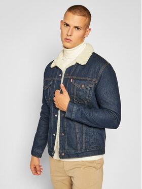 Levi's® Levi's® Veste en jean Type III Sherpa 16365-0084 Bleu marine Regular Fit