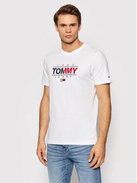 Tommy Jeans Tommy Jeans Póló Tjm Essential Graphic DM0DM11600 Fehér Slim Fit