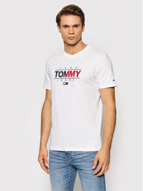 Tommy Jeans Tommy Jeans T-Shirt Tjm Essential Graphic DM0DM11600 Weiß Slim Fit