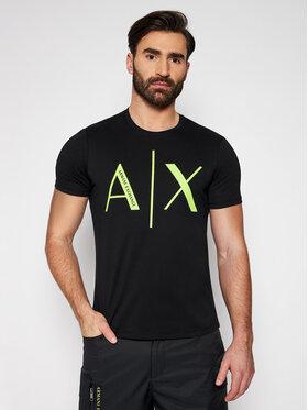 Armani Exchange Armani Exchange T-shirt 3KZTAG ZJ4KZ 1200 Crna Slim Fit