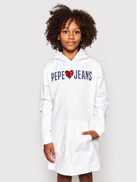 Pepe Jeans Pepe Jeans Ежедневна рокля Harper PG951495 Бял Regular Fit