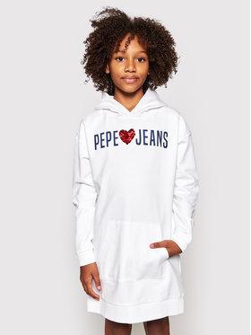 Pepe Jeans Pepe Jeans Každodenné šaty Harper PG951495 Biela Regular Fit