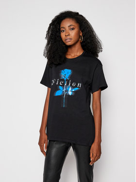 Local Heroes Local Heroes T-Shirt Rose Fiction AW2021T0013 Czarny Regular Fit