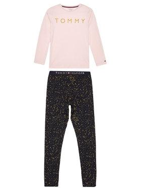 Tommy Hilfiger Tommy Hilfiger Pijama Ls Pant Set Glitter UG0UG00409 Colorat