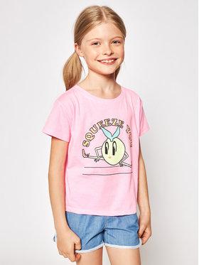 Billieblush Billieblush Marškinėliai U15868 Rožinė Regular Fit