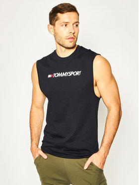 Tommy Sport Tommy Sport Tank top Logo Training S20S200358 Σκούρο μπλε Regular Fit