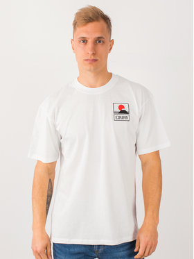 Edwin Edwin T-Shirt Sunset On Mt Fuji Ts I025881 TG372M4 267 Biały Regular Fit