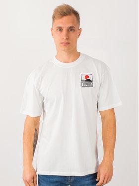 Edwin Edwin T-shirt Sunset On Mt Fuji Ts I025881 TG372M4 267 Blanc Regular Fit