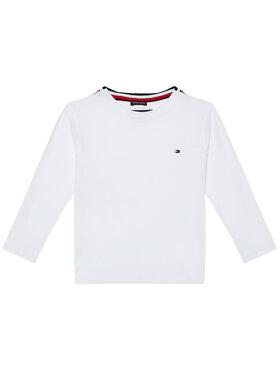 TOMMY HILFIGER TOMMY HILFIGER Bluse Solid Rib Tee KB0KB06212 M Weiß Regular Fit