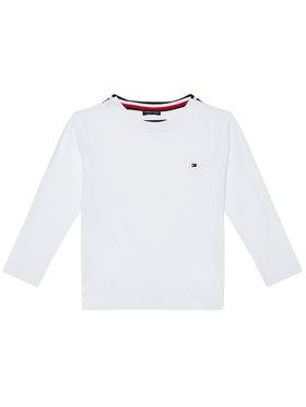 TOMMY HILFIGER TOMMY HILFIGER Μπλουζάκι Solid Rib Tee KB0KB06212 M Λευκό Regular Fit