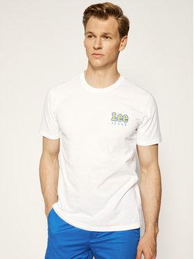 Lee Lee T-Shirt Chest Logo Tee L64RFELJ Weiß Regular Fit