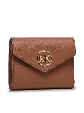 MICHAEL Michael Kors MICHAEL Michael Kors Malá dámska peňaženka Carmen 34S1GNME6L Hnedá