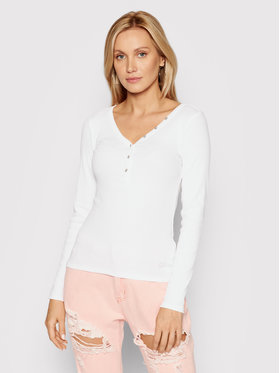Guess Guess Bluse Henley W0BP1S R9I51 Weiß Slim Fit