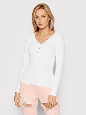 Guess Guess Bluzka Henley W0BP1S R9I51 Biały Slim Fit