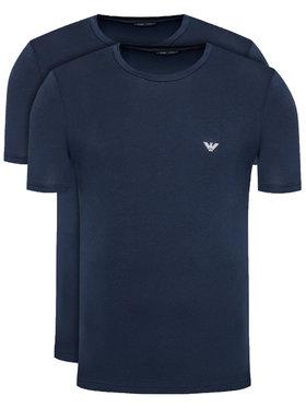 Emporio Armani Underwear Emporio Armani Underwear 2-dielna súprava tričiek 111267 1P720 27435 Tmavomodrá Regular Fit