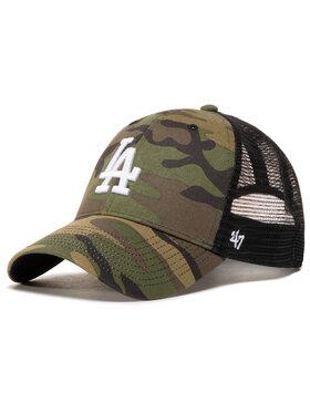 47 Brand 47 Brand Шапка с козирка Mlb Los Angeles Dodgers Branson B-CBRAN12GWP-CMD Зелен