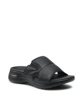 Skechers Skechers Šlepetės Go Walk Arch Fit Sandal 229023/BBK Juoda