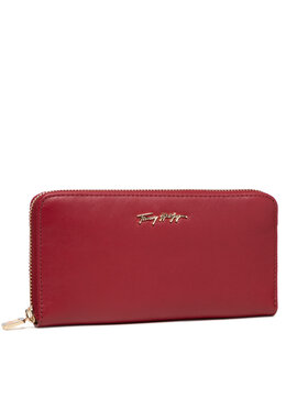 Tommy Hilfiger Tommy Hilfiger Portefeuille femme grand format Essential Leather Lrg Za AW0AW10498 Rouge