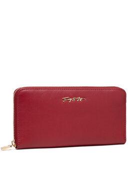 Tommy Hilfiger Tommy Hilfiger Velká dámská peněženka Essential Leather Lrg Za AW0AW10498 Červená