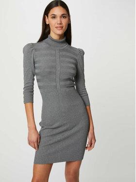 Morgan Morgan Плетена рокля 212-RMTO Сив Slim Fit