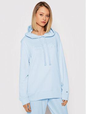 Tommy Hilfiger Tommy Hilfiger Sweatshirt Abo Th Ess WW0WW33100 Blau Regular Fit