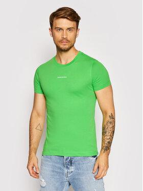 Calvin Klein Jeans Calvin Klein Jeans Tričko J30J318067 Zelená Slim Fit