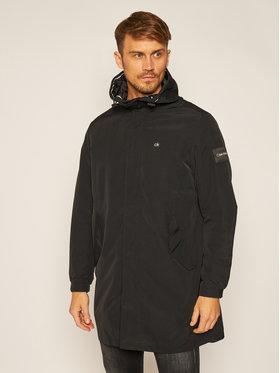 Calvin Klein Calvin Klein Parka Logo Print K10K105608 Noir Regular Fit