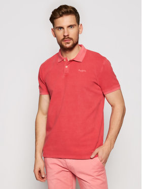 Pepe Jeans Pepe Jeans Polo Vincent Gd PM541225 Rosso Slim Fit