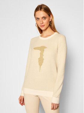 Trussardi Jeans Trussardi Jeans Sweater 56M00351 Bézs Regular Fit