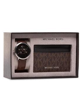 Michael Kors Michael Kors Zegarek Blake Gift Set MK8843 Brązowy