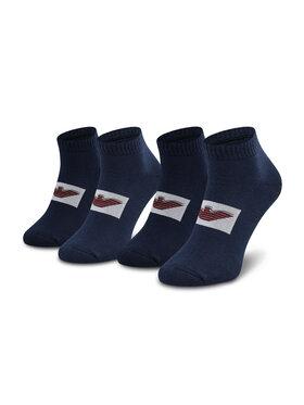 Emporio Armani Emporio Armani Vyriškų trumpų kojinių komplektas (2 poros) 306208 1A300 00035 r.39/46 Tamsiai mėlyna