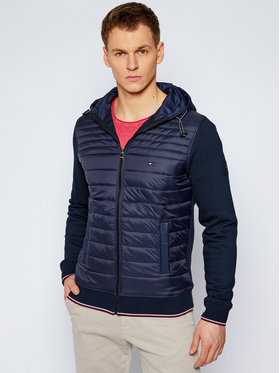 Tommy Hilfiger Tommy Hilfiger Átmeneti kabát Mixed Media MW0MW15607 Sötétkék Regular Fit