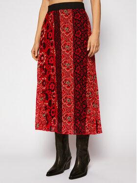 Desigual Desigual Plisovaná sukňa Rosal 20WWFW23 Červená Regular Fit