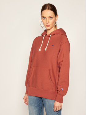 Champion Champion Sweatshirt C Logo 113350 Dunkelrot Regular Fit
