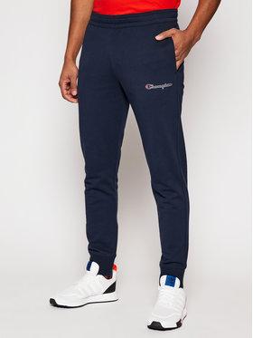 Champion Champion Pantaloni da tuta Script Logo Print 214198 Blu scuro Custom Fit