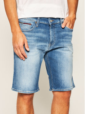 Tommy Jeans Tommy Jeans Džínové šortky Scanton DM0DM08037 Modrá Slim Fit