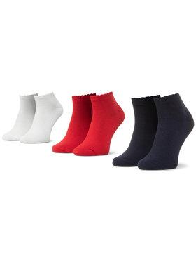 Mayoral Mayoral Súprava 3 párov detských členkových ponožiek 10877 Červená