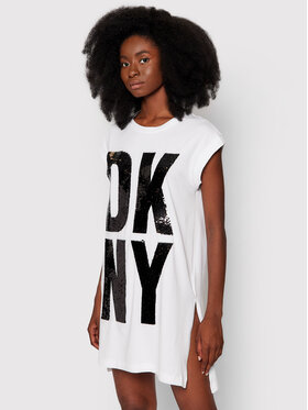 DKNY DKNY Туника P1DTDB2M Бял Regular Fit