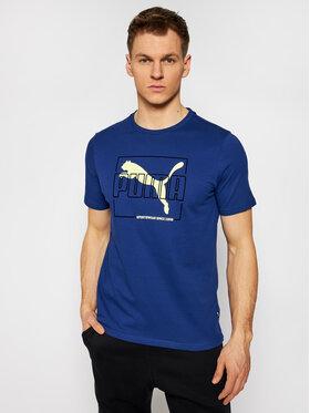 Puma Puma T-Shirt Flock 587770 Granatowy Regular Fit