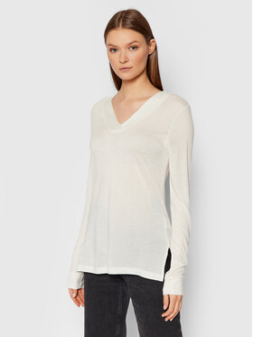 United Colors Of Benetton United Colors Of Benetton Bluză 3AOHE4276 Alb Regular Fit