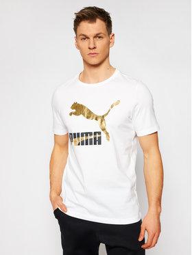 Puma Puma T-Shirt Classics Logo Tee 530089 Bílá Regular Fit